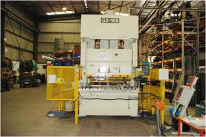 Metal stamping press at Larego Toolmaking